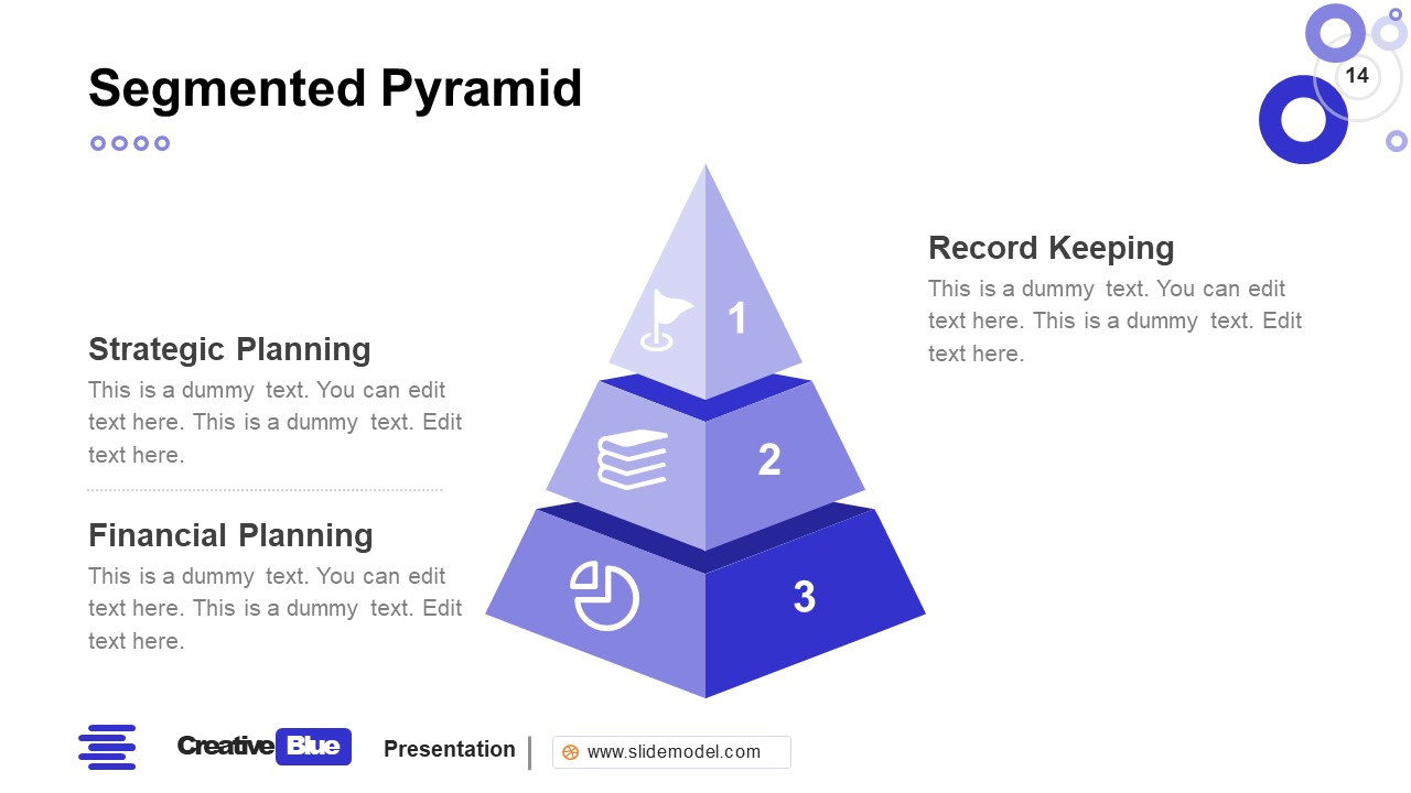 Pyramid PowerPoint Business PowerPoint Blue
