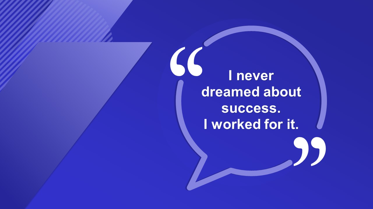 Quotes PowerPoint Business PowerPoint Blue