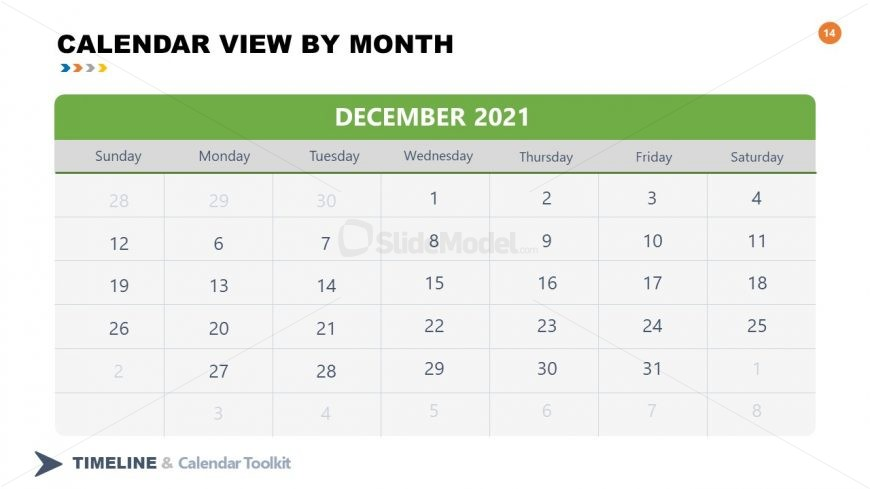 PPT Slide December Calendar 2021