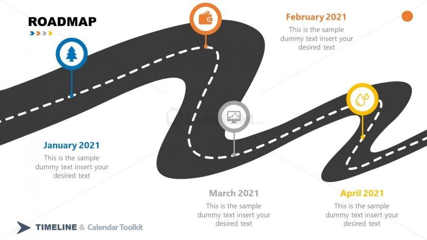 PPT Roadmap Four Milestones