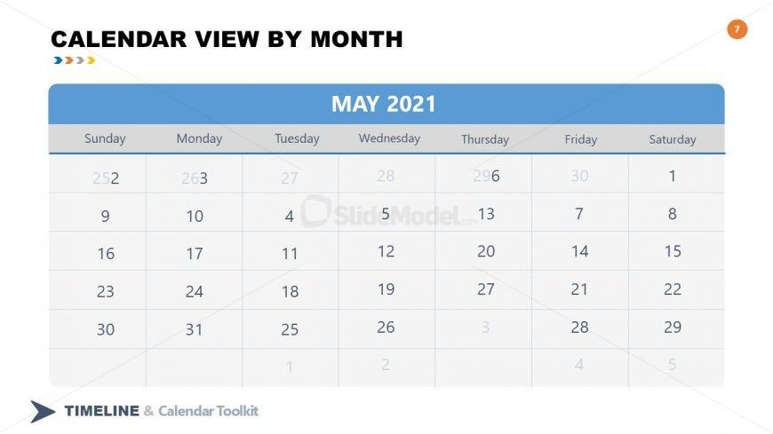 PPT Slide May Calendar 2021