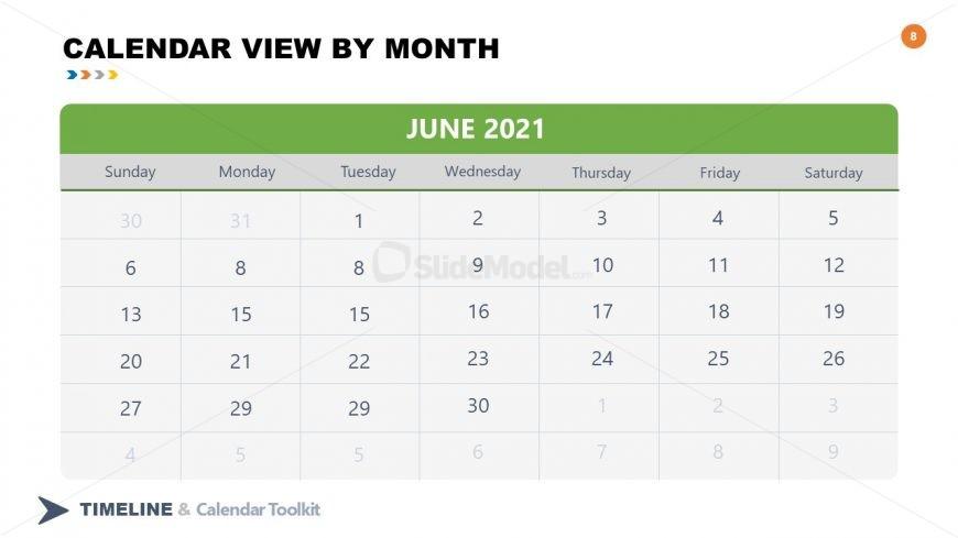 PPT Slide June Calendar 2021
