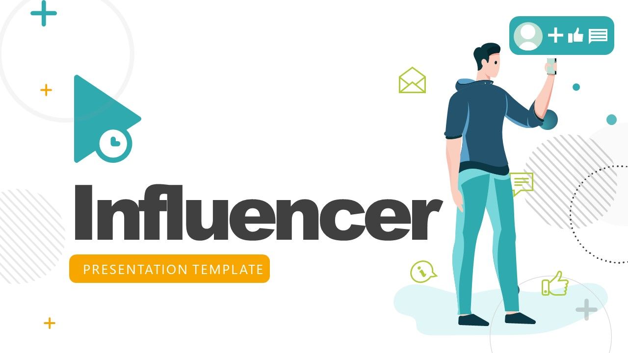 Influencer Cover Slide PowerPoint