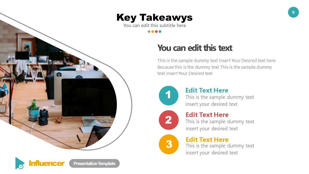 Key Takeaways Template Influencer Deck