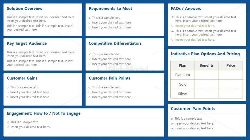 Sales PowerPoint Battle Cards Design