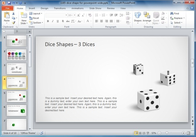 3D Dice Shapes For PowerPoint
