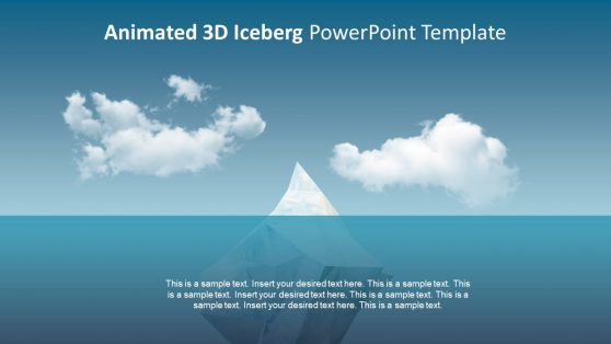 Template of Iceberg PowerPoint