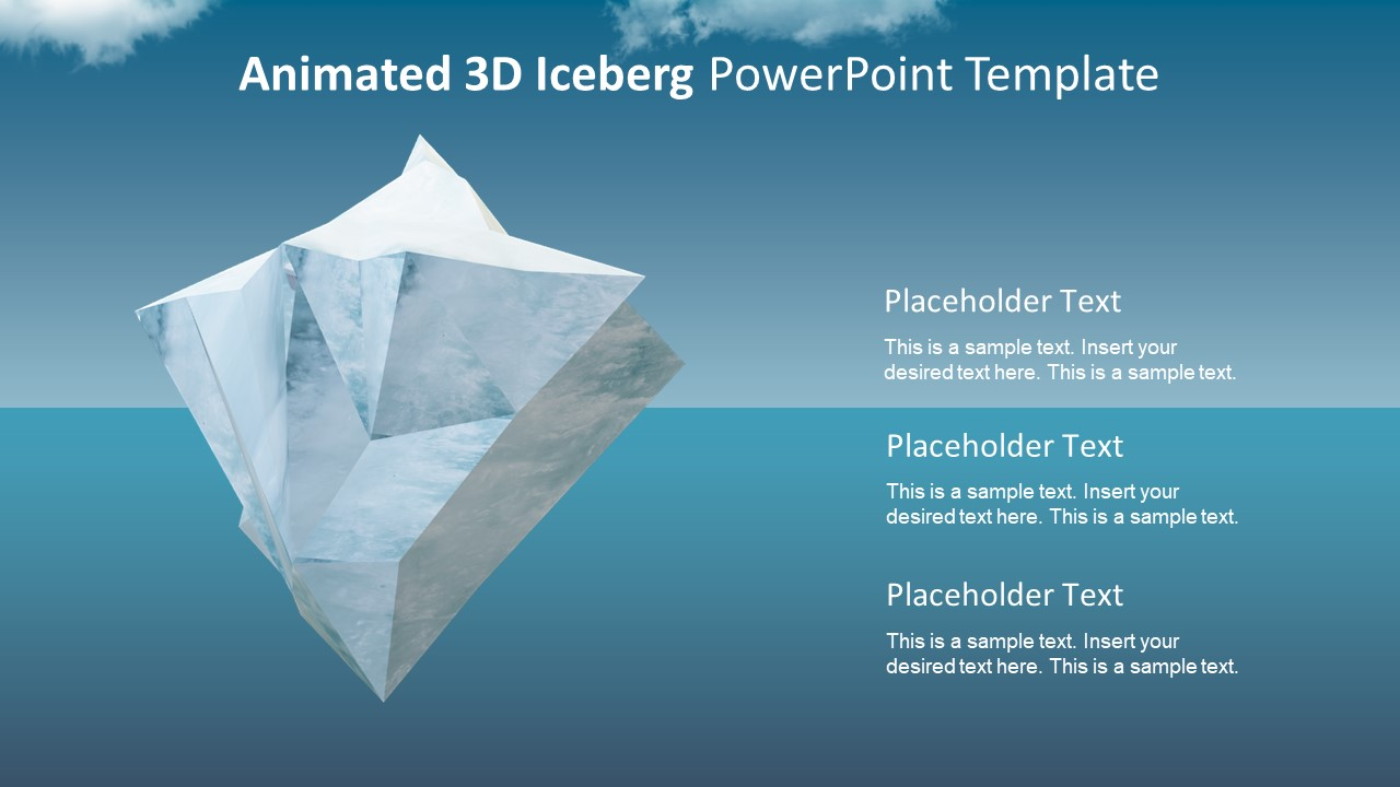 animated 3d iceberg powerpoint template