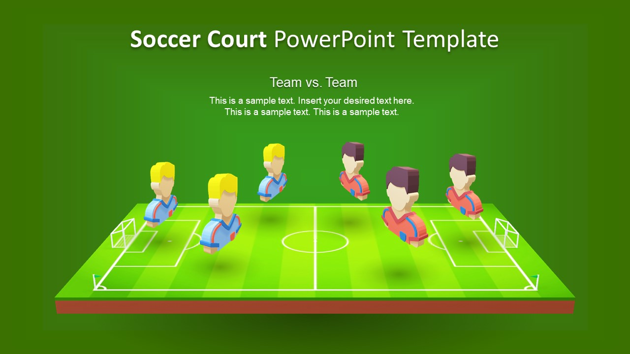 3d animated soccer court powerpoint template slidemodel