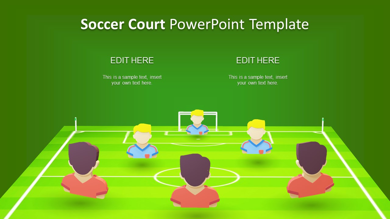 3d animated soccer court powerpoint template slidemodel soccer court template two teams creative 3d presentation of football toneelgroepblik Gallery