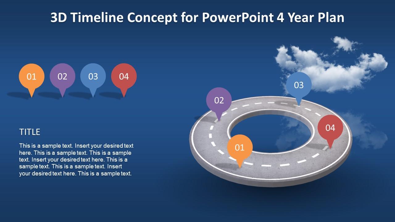 Animated 3d Timeline Concept For Powerpoint Slidemodel