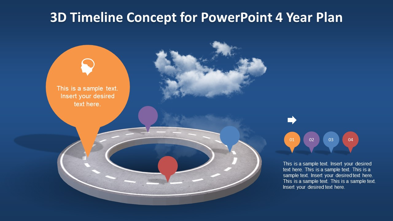 Creative Layout of 3D Animated Timeline