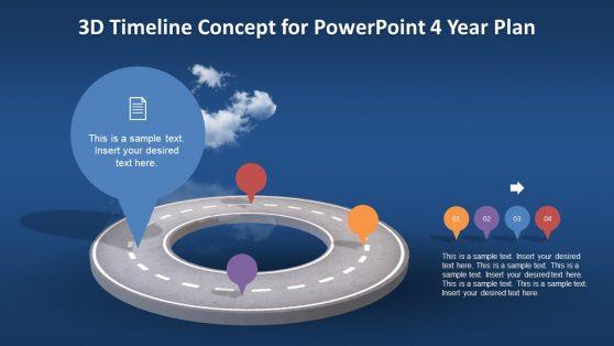 Roadmap PowerPoint 3D Design