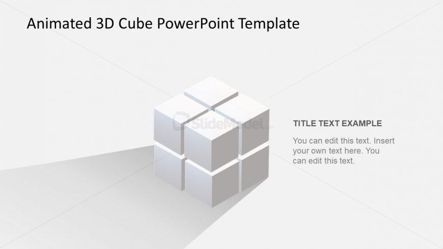 8 Cubes Set PowerPoint