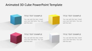 4 Steps Cube Template