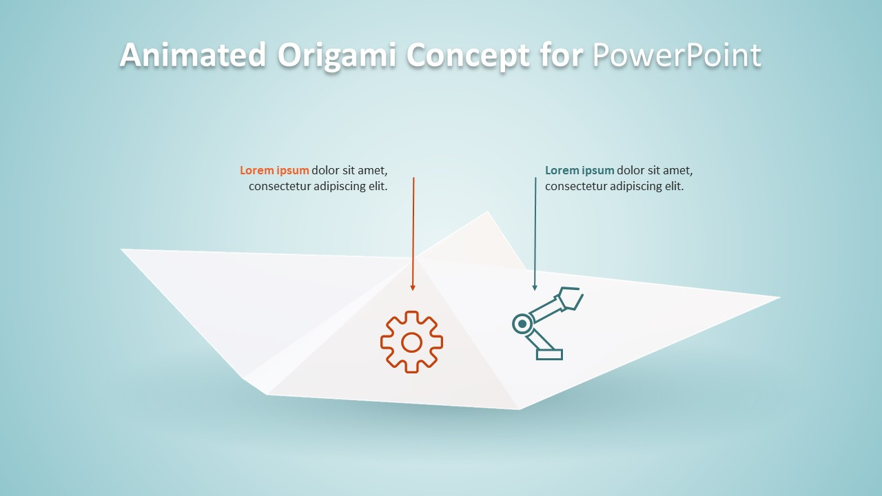 Slide of Corner View Origami