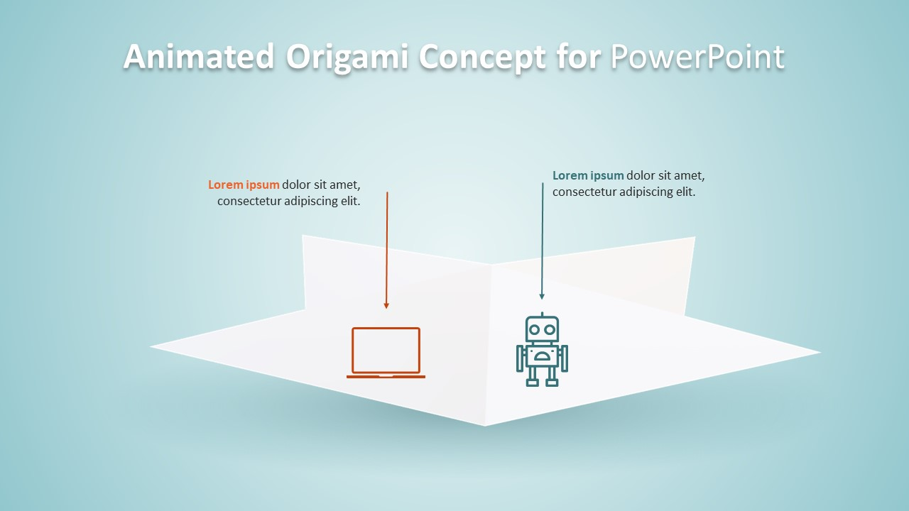 Slide Design Origami Layout