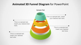 3D Animated 4 Step Funnel PowerPoint Template