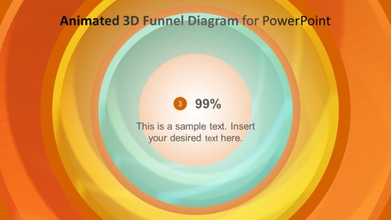 Layers of 3D Funnel Animated