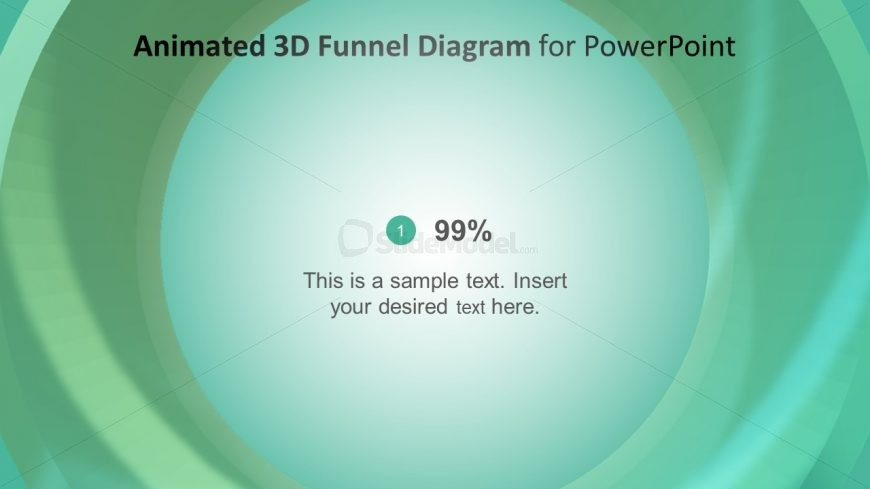 Colorful Animated 3D Inside View of Funnel