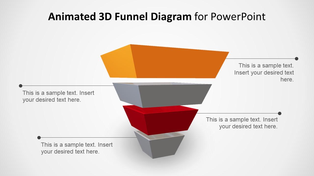 Creative 3D View 4 Step Diagram
