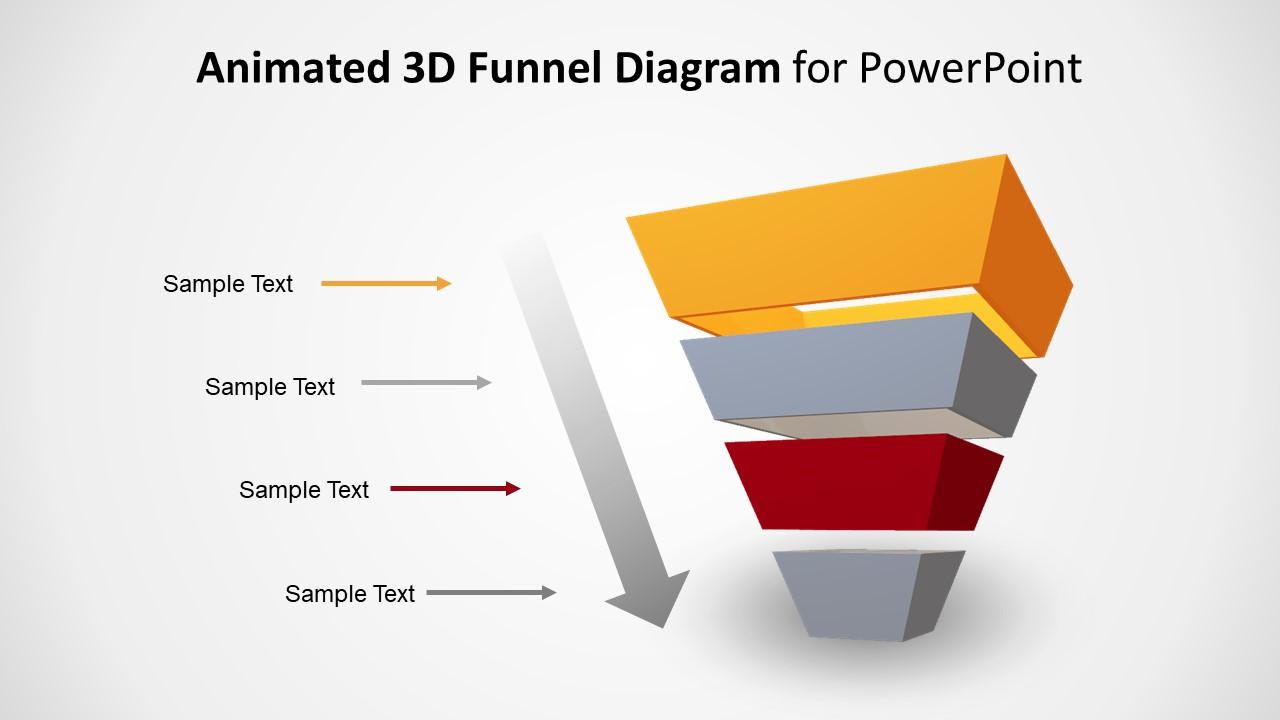 Editable PowerPoint Funnel Style Pyramid