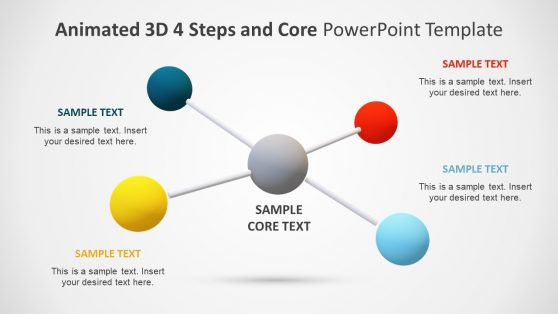 PowerPoint 4 Step 3D Diagram