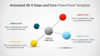 Animated 3D 4 Steps & Core PowerPoint Template