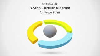 Animated 3D 3 Steps Circular Diagram for PowerPoint