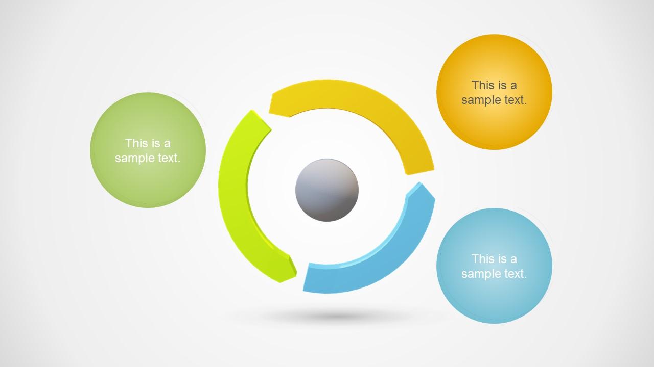 3D Design of 3 Steps Diagram PPT