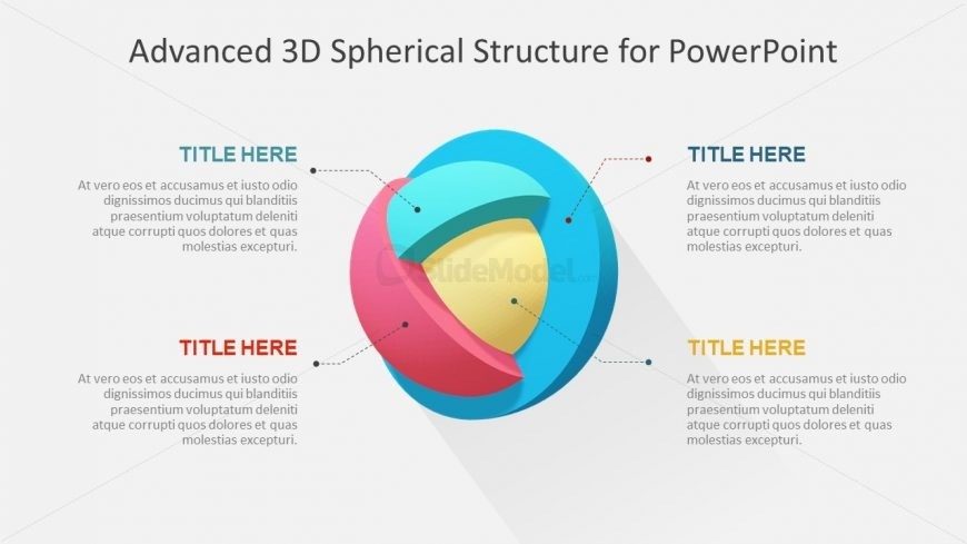 4 Steps of PowerPoint 3D Diagram