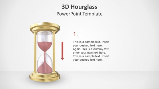 Flat Shapes on 3D Hourglass PPT