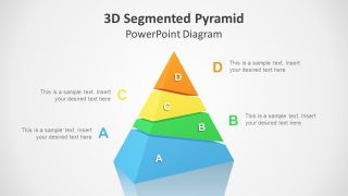 3D Segmented Pyramid PowerPoint Template