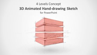 3D Animated 4 Level Concept Hand-Drawn Sketch for PowerPoint
