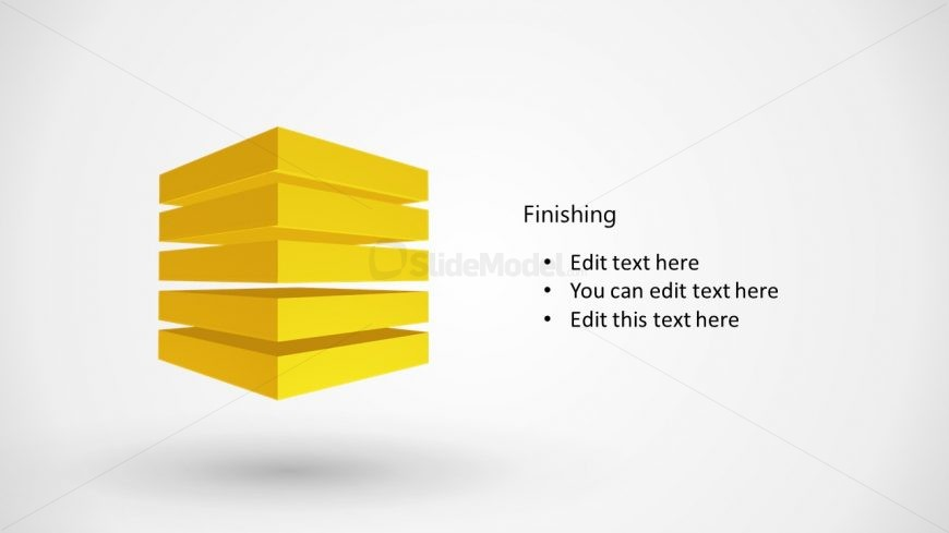 Animated Slide of 3D Cube Stack Diagram