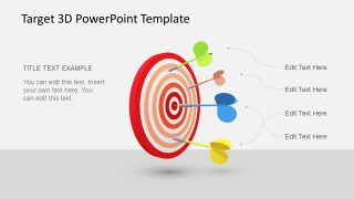 Animated 3D Target PowerPoint Template