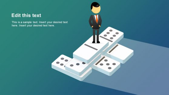 PowerPoint Businessman and Domino Tiles