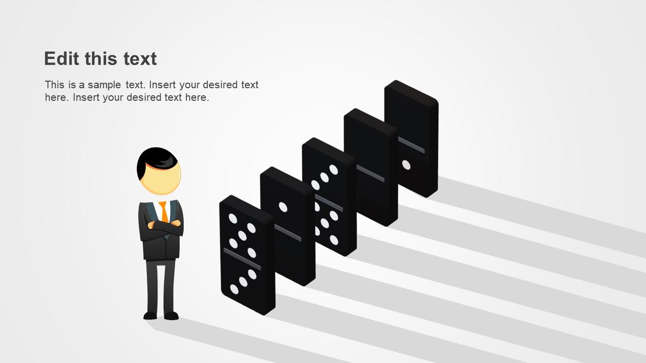 PPT Domino in Isometric 3D Design
