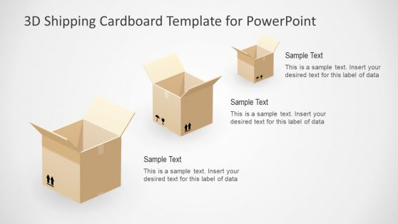 Shipping 3D Cardboard Boxes PPT