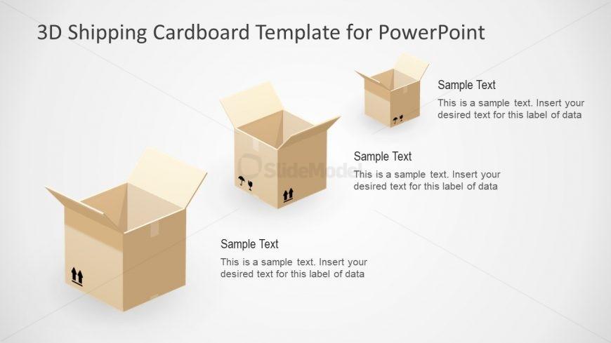 3D Cube Boxes PPT Slide