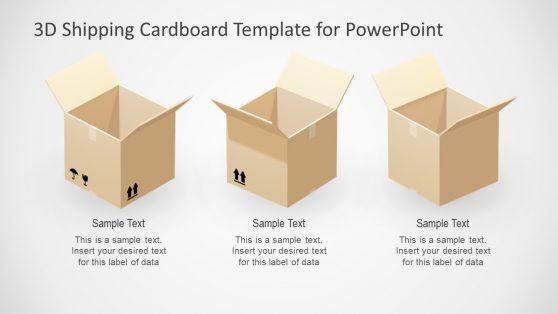 Open and Close Cardboard Box PPT