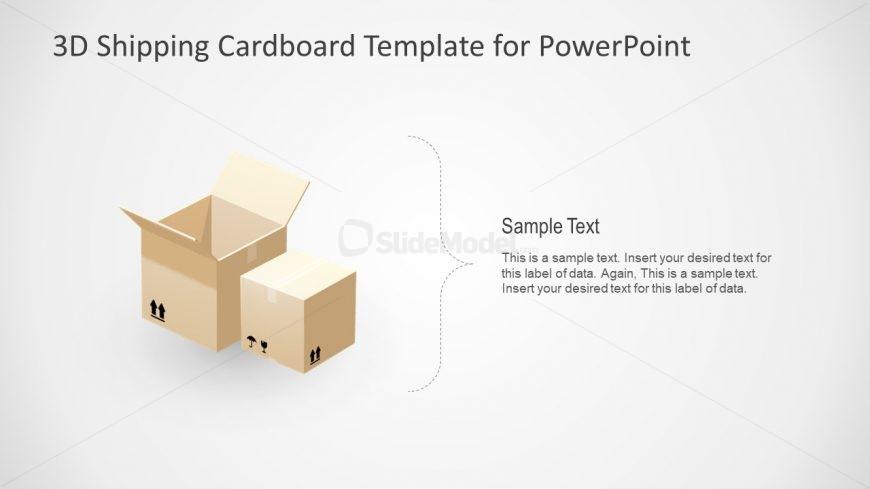 Slide of 3D Cube Boxes