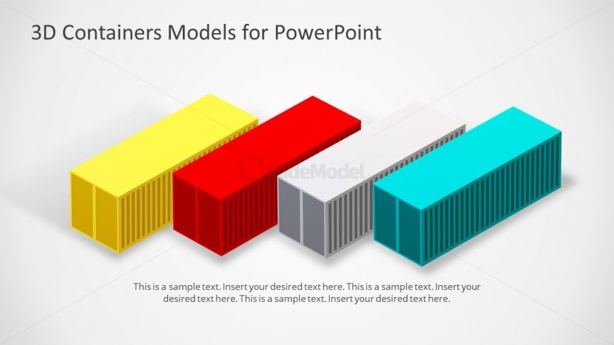 Animated Container 3D Model PPT