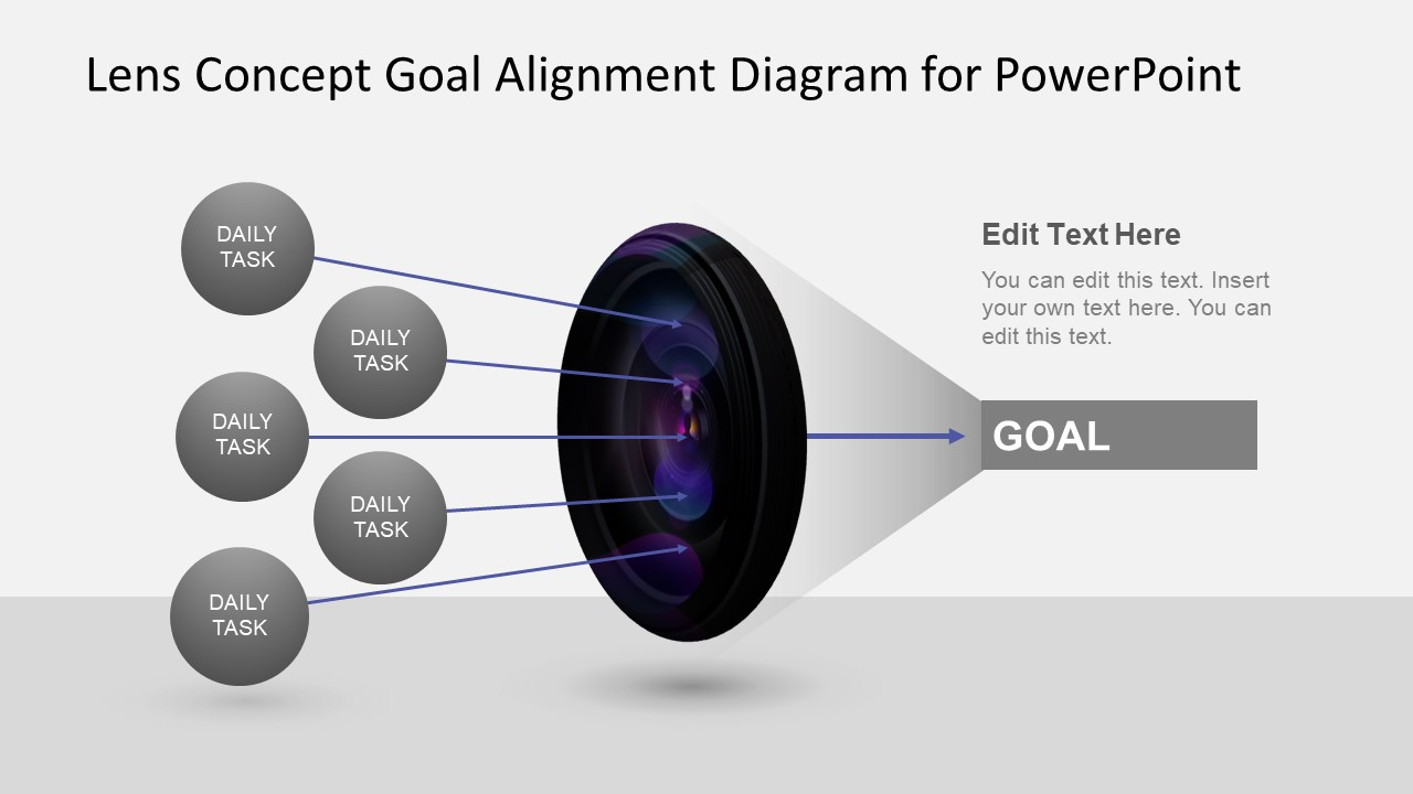 Goal Alignment PowerPoint Lens  SlideModel