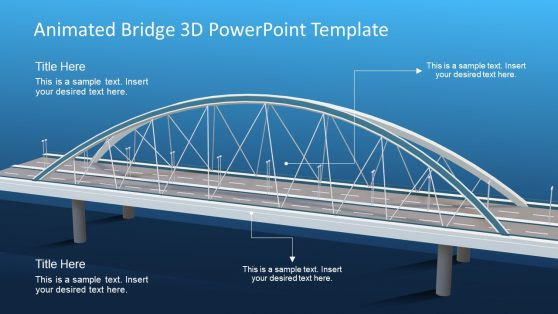 Bridge Metaphor 3D Model PPT