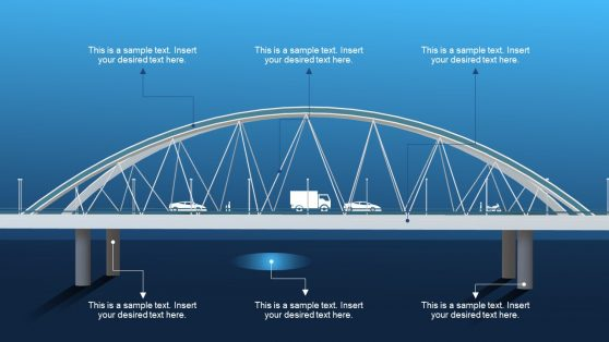 3D PowerPoint Template of Bridge