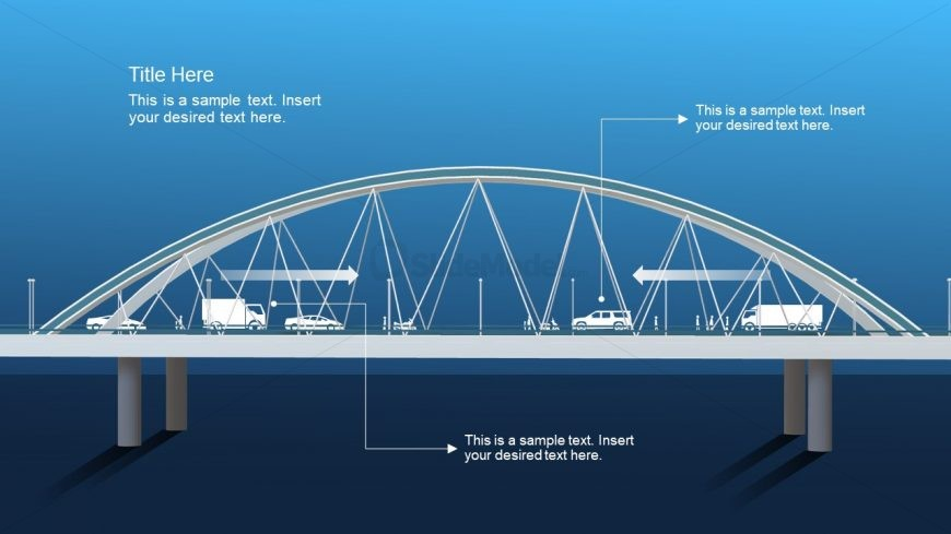 Traffic PowerPoint Slide 3D Bridge