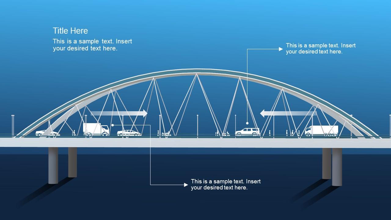 Traffic PowerPoint Slide 3D Bridge