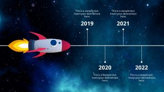 Rocketship Horizontal Timeline Design