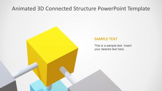 Animated PowerPoint 3D Cube Structure